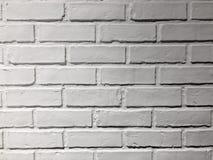 Pared de ladrillo blanca Fotos de archivo