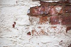 Pared de ladrillo blanca abstracta Fotografía de archivo libre de regalías