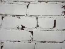 Pared de ladrillo blanca como tendencia imagen de archivo