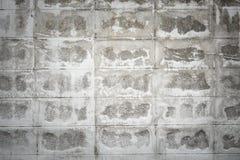 Pared de ladrillo blanca dañada Imagen de archivo libre de regalías