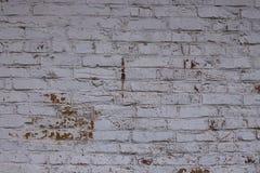 Pared de ladrillo blanca del fondo en un estilo retro Foto de archivo libre de regalías