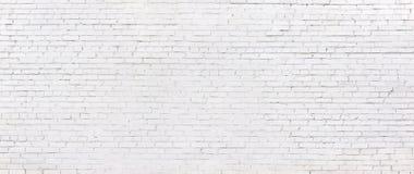 Pared de ladrillo blanca del Grunge, fondo blanqueado del ladrillo fotografía de archivo libre de regalías