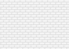 Pared de ladrillo blanca en modelo de la teja del subterráneo Ilustración del vector stock de ilustración