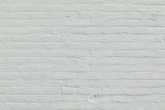 Pared de ladrillo blanca pintada imagen de archivo