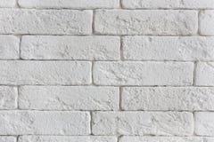 Pared de ladrillo blanca, usada en diseño y la publicidad imagen de archivo libre de regalías
