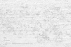 Pared de ladrillo blanca vieja Fotos de archivo