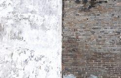 Pared de ladrillo blanco y negro Foto de archivo
