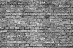Pared de ladrillo (blanco y negro) Foto de archivo libre de regalías