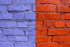 Pared de ladrillo coloreada en diversos colores Imagenes de archivo