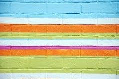 Pared de ladrillo colorida fotografía de archivo
