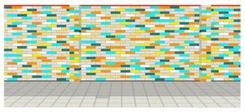 Pared de ladrillo colorida Imágenes de archivo libres de regalías
