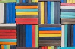 Pared de ladrillo colorida para el papel pintado superficie, textura para el fondo Foto de archivo libre de regalías