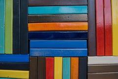Pared de ladrillo colorida para el papel pintado superficie, textura para el fondo Foto de archivo