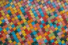 Pared de ladrillo colorida para el papel pintado superficie, textura para el fondo Fotografía de archivo libre de regalías