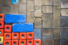 Pared de ladrillo colorida para el papel pintado superficie, textura para el fondo Imágenes de archivo libres de regalías