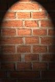 Pared de ladrillo con la luz Fotografía de archivo libre de regalías