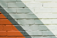 Pared de ladrillo de Graffity, detalle muy pequeño Primer urbano abstracto del diseño del arte de la calle Cultura urbana icónica fotos de archivo