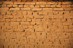 Pared de ladrillo del fango imagen de archivo
