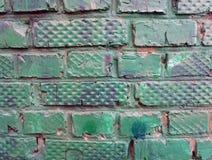 pared de ladrillo del vintage del fondo pintada Fotos de archivo libres de regalías
