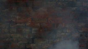 Pared de ladrillo en humo almacen de video