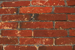 Pared de ladrillo, fondo rojo de la pared de ladrillo Fotografía de archivo libre de regalías