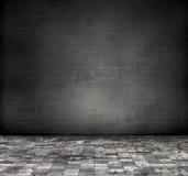 Pared de ladrillo gris Foto de archivo libre de regalías