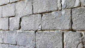 Pared de ladrillo gris del cemento para la textura del fondo almacen de metraje de vídeo