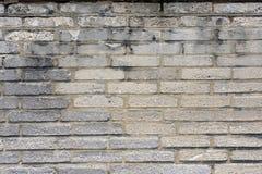 Pared de ladrillo gris resistida 4 Imagen de archivo