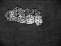 Pared de ladrillo III (bw) imágenes de archivo libres de regalías