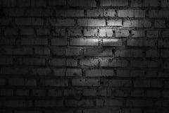 Pared de ladrillo negra Imágenes de archivo libres de regalías