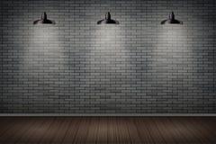Pared de ladrillo oscura de la prisión Foto de archivo
