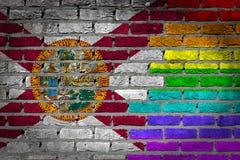 Pared de ladrillo oscura - las derechas de LGBT - la Florida Fotos de archivo