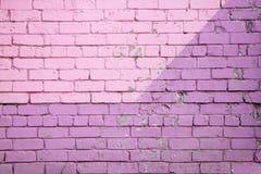 Pared de ladrillo púrpura Fotografía de archivo