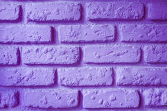 Pared de ladrillo púrpura Imagen de archivo