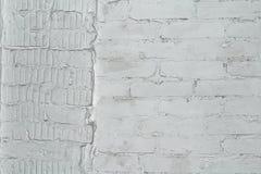 Pared de ladrillo pintada en gris Foto de archivo