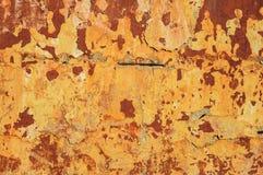 Pared de ladrillo rústica vieja con el estuco agrietado Imagen de archivo libre de regalías