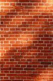 Pared de ladrillo roja Imagen de archivo libre de regalías