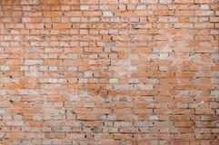 Pared de ladrillo roja Foto de archivo libre de regalías
