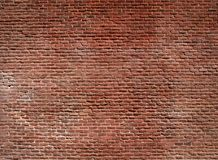 Pared de ladrillo roja Fotografía de archivo libre de regalías