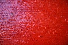 Pared de ladrillo roja Fotos de archivo libres de regalías