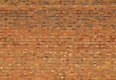 Pared de ladrillo roja grande de la casa imagen de archivo libre de regalías