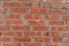 Pared de ladrillo roja para desing interior del desván Edificio redondo Foto de archivo