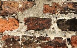 Pared de ladrillo roja vieja Foto de archivo libre de regalías