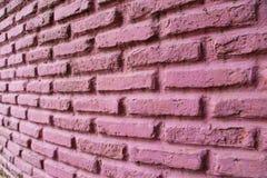 Pared de ladrillo rosada Fotos de archivo libres de regalías
