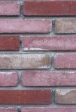 Pared de ladrillo rosada Fotografía de archivo