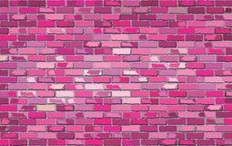 Pared de ladrillo rosada Foto de archivo libre de regalías