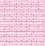 Pared de ladrillo rosada, fondo ilustración del vector