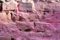 Pared de ladrillo rosada fotografía de archivo libre de regalías