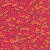 Pared de ladrillo rota (papel pintado inconsútil del vector) libre illustration