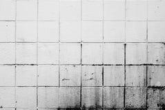 Pared de ladrillo sucia blanca fotografía de archivo libre de regalías